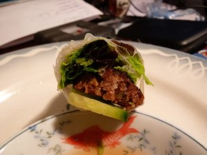 Nem nuong: barbecued minced pork patties