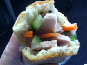 Do chua (pickled veggies) and banh mi (Vietnamese sandwich)
