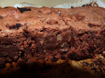 Chocolate and pineapple brownies