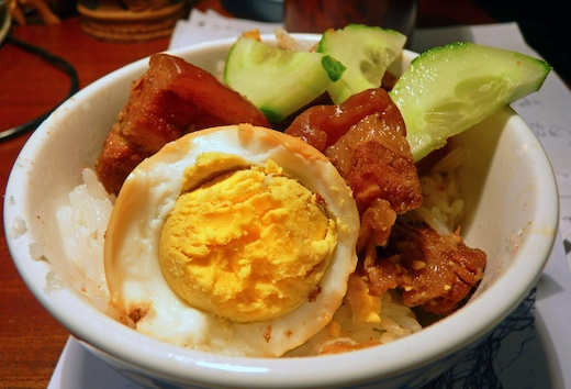 Thit kho tau: braised caramelised pork with eggs