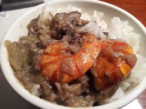 Tom cari: shrimp curry