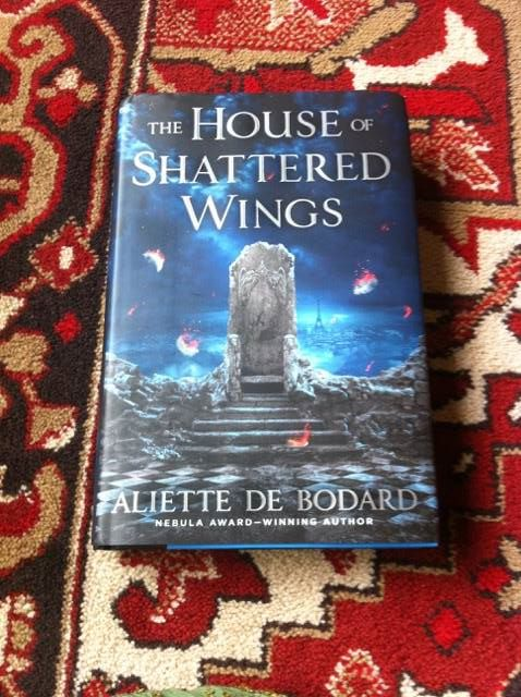 Giveaway winners: signed hardcovers of THE HOUSE OF SHATTERED WINGS