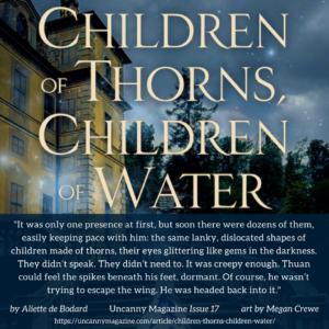 Children of Thorns, Children of Water up for a Hugo Award for Best Novelette