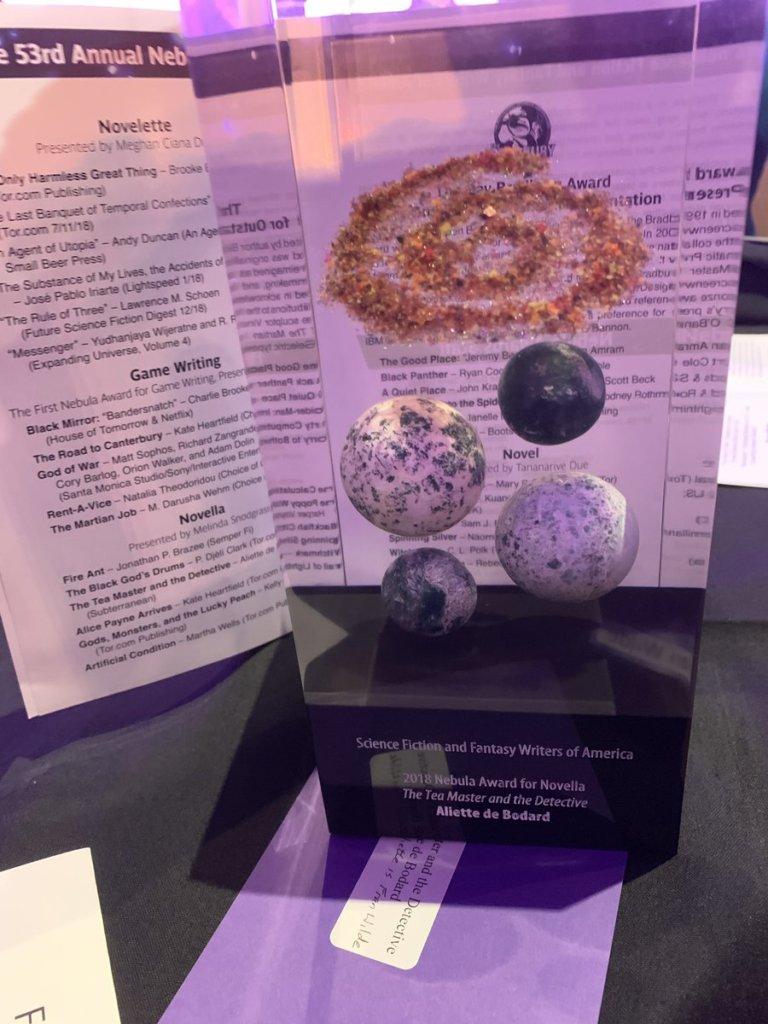 The Tea Master and the Detective won a Nebula Award!
